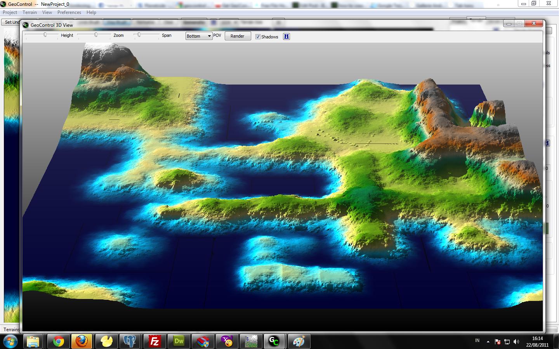 how to create 8 bit  raw file for terrain map mengunakan Geo